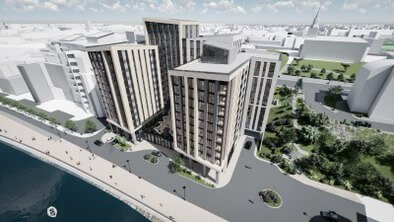 Packaged Living have been selected by Homes England to redevelop a 1.5 acre plot on Newcastle's Quayside